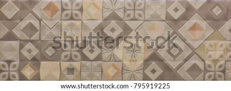 mosaic, ceramic kitchen tile, abstract pattern