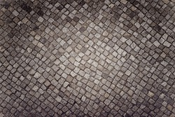 Mosaic colored pavers of small stones