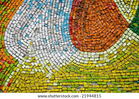 Mosaic fragment made of smalt #21944815
