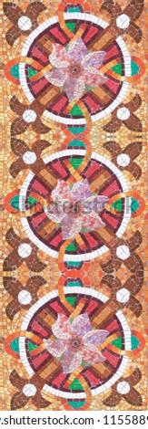 Mosaic frieze. Moroccan style. Mosaic flowers. Mosaic tile. Mosaic frieze. #1155889225
