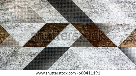 Photo of  Mosaic geometry, abstract pattern, ceramic tile