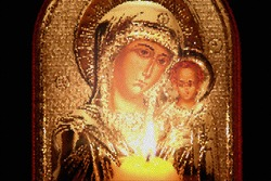 Mosaic icon of the Virgin Mary with Child