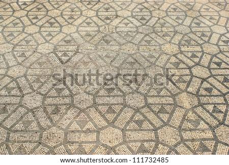 Mosaic in the Roman ruins of Conimbriga