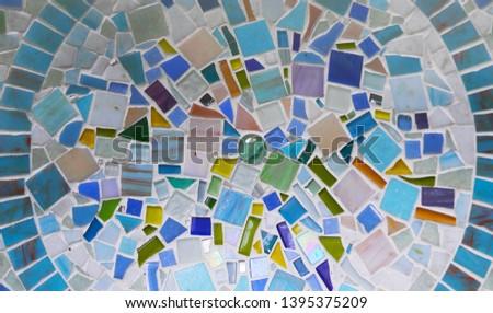 Mosaic insert. Mosaic decor. Mosaic tile.
