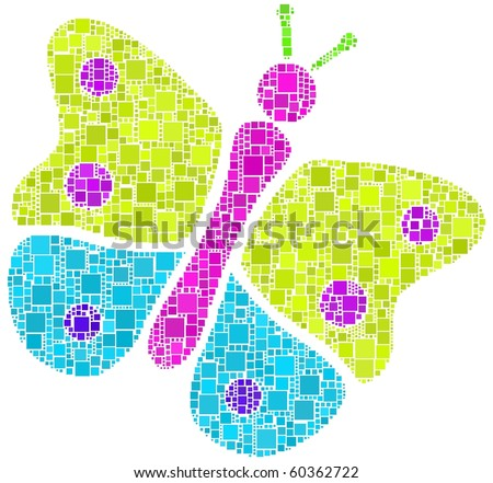 Mosaic of a  Butterfly