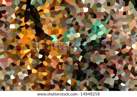 Mosaic pattern of crystallized structure