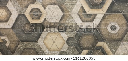 mosaic tile, abstract ornamental pattern - Shutterstock ID 1161288853