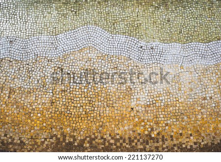 Mosaic tile background. Mosaic floor in antique style.  #221137270