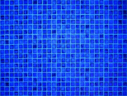 Mosaic tile wall for background. close up of blue tile texture. Background and texture