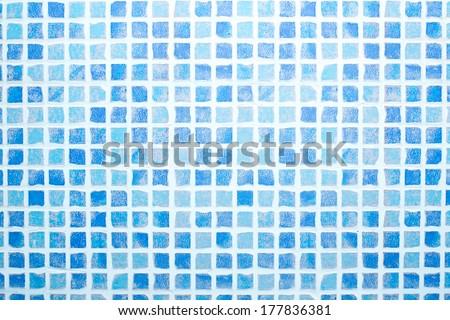 Mosaic tiled blue & grey pattern background