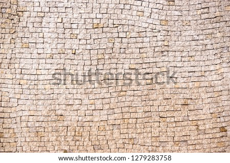 Mosaic wall. Mosaic tile background. Mosaic surface in antique style #1279283758