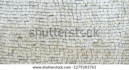 Mosaic wall. Mosaic tile background. Mosaic surface in antique style #1279283761