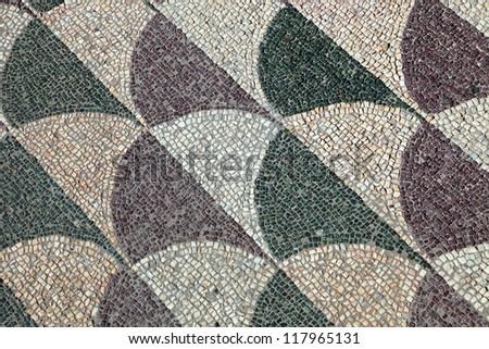 Mosaics on the floor, Baths of Caracalla, Rome, Italy