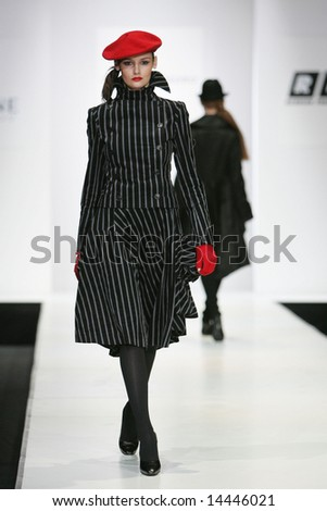 MOSCOW - APRIL 5: Model walks the runway during the Isabel de Pedro Collection as part of Russian Fashion Week April 5, 2007 in Moscow, Russia.