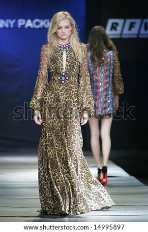 MOSCOW - APRIL 2: Model walks the runway during the Jenny Packham (UK) Collection as part of Russian Fashion Week April 2, 2007 in Moscow, Russia.