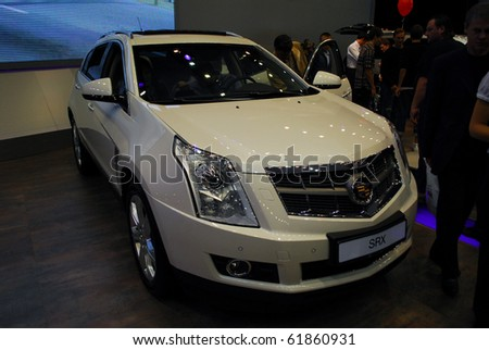MOSCOW - AUG 26: Cadillac SRX at Moscow international motor show 2010 on August 26, 2010 in Moscow, Russia.