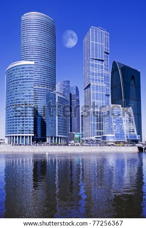 Moscow-city business center, Russia.