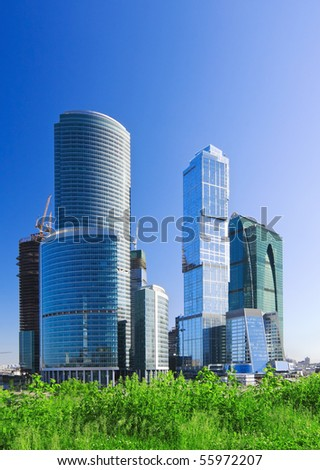 Moscow City complex under construction.