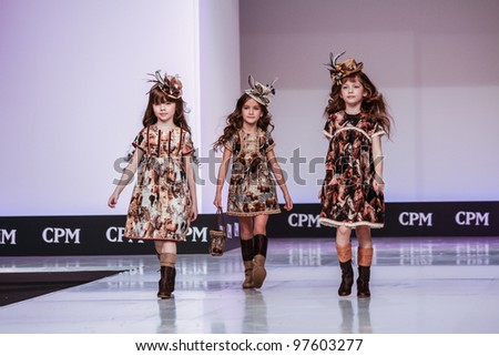 Moscow February 29 Unidentified Children Wear Graci Clothing Collection At The International
