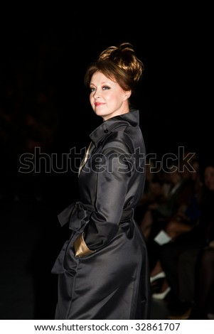 MOSCOW - JUNE,25: Actress Larisa Udovichenko. Evening of Charity Fund Russian Silhouette within the 31st Moscow International Film Festival.Tsereteli Art Gallery. June 25, 2009 in Moscow, Russia.
