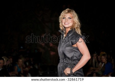 MOSCOW - JUNE,25: Actress Nastya Zadorozhnaya. Evening of Charity Fund Russian Silhouette within the 31st Moscow International Film Festival.Tsereteli Art Gallery. June 25, 2009 in Moscow, Russia.