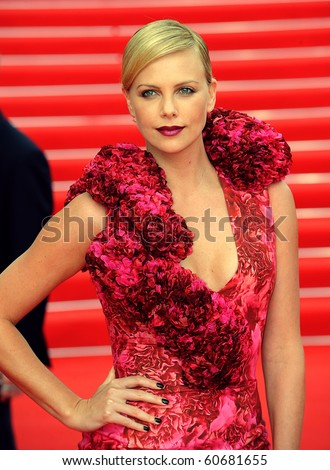 MOSCOW - JUNE 19: Charlize Theron  before holding a press conference , prior to the Russian premiere of 'Hancock' on XXX Moscow film festival on June 19, 2008 in Moscow.