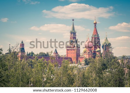 moscow kremlin and st basil's...