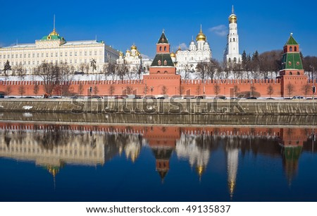 Moscow Kremlin in winter, Russia