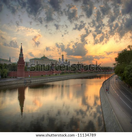 Moscow Kremlin sunrise