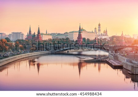moscow kremlin with reflection...