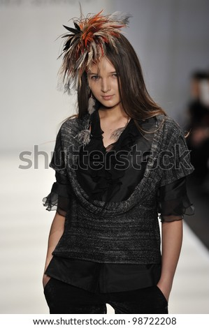 MOSCOW - MARCH 24: A Model walks runway at the Sitka Semsch for Fall Winter 2012 presentation during MBFW on March 24, 2012 in Moscow, Russia