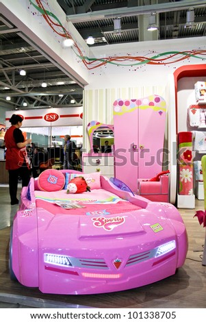 Moscow-May 18: Kids Room Car Bed At The International Exhibition ...