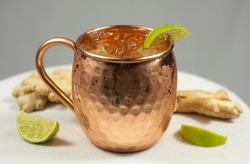 Moscow Mule in Copper Mug