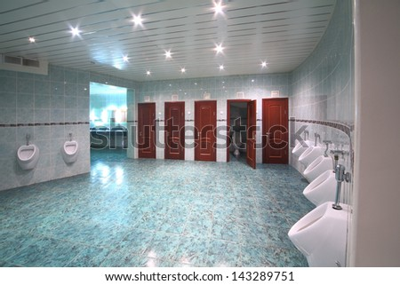 MOSCOW NOV 21 The men room in the Central Academic Theatre of the Russian Army on Nov 21 2012 in Moscow Russia
