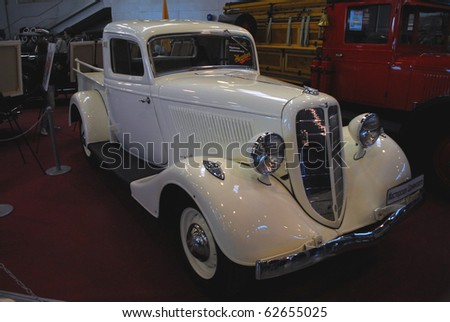 MOSCOW - OCT 07: GAZ-M-415 Soviet a old car 1939 The Moscow Exhibition of technical antiques 2010 on October 07, 2010 in Moscow, Russia.