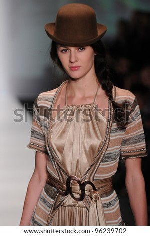 moscow october 22 model walks runway at the sitka
