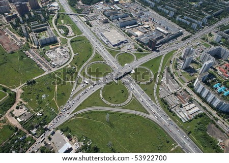 Moscow ring road and highway