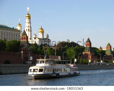 Moscow river cruise boat (Moscow, Russia)
