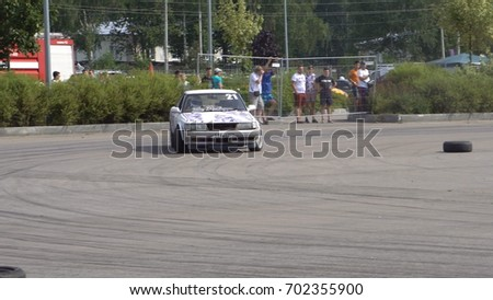 Moscow, Russia - August 19, 2017 : All- Russian annual festival of cars,competition drifting #702355900