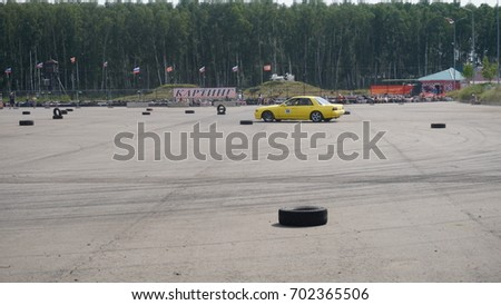 Moscow, Russia - August 19, 2017 : All- Russian annual festival of cars,competition drifting #702365506