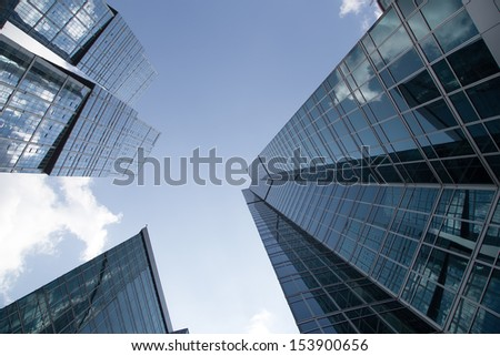 MOSCOW, RUSSIA- AUGUST 08:August 08, 2013. Skyscrapers of the International Business Center (City), Moscow, Russia #153900656