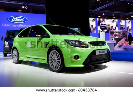 MOSCOW, RUSSIA - AUGUST 26: Ford Focus is presented on 26 August 2010, Moscow, Russia. Moscow International Autosalon is the largest in Eastern Europe