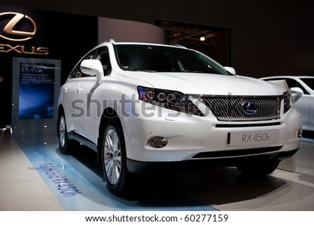 MOSCOW, RUSSIA - AUGUST 26: Lexus Full Hybrid RX 450h is presented on 26 August 2010, Moscow, Russia. Moscow International Autosalon is the largest in Eastern Europe