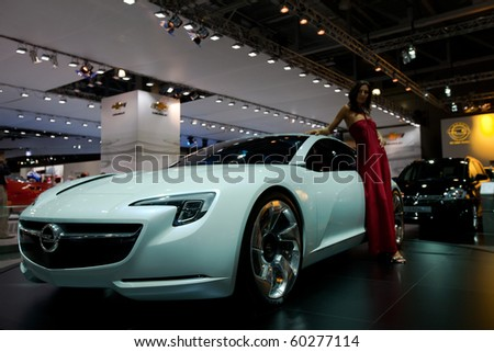MOSCOW, RUSSIA - AUGUST 26: Opel Flextreme GT Concept is presented on 26 August 2010, Moscow, Russia. Moscow International Autosalon is the largest in Eastern Europe