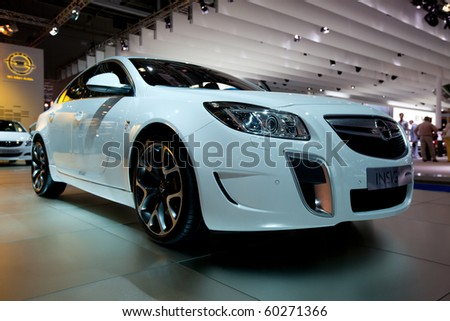 MOSCOW, RUSSIA - AUGUST 26: Opel Insignia is presented on 26 August 2010, Moscow, Russia. Moscow International Autosalon is the largest in Eastern Europe