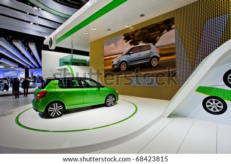 MOSCOW, RUSSIA - AUGUST 26: Skoda Concept at Moscow international motor show 2010 on August 26, 2010 in Moscow, Russia. - stock photo