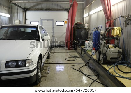 Moscow, Russia - December, 23, 2016: car in a car repair station #547926817