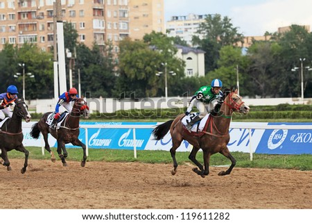 MOSCOW, RUSSIA - JUL 07: The races for the prize of the President of the Russian Federation on Jul 07, 2012 in Moscow