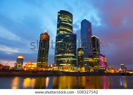 MOSCOW, RUSSIA - JULE 4: Moscow International Business Center (Moscow IBC) in Jule 4, 2012 in Moscow, Russia.  First conceived the project in 1992. Total cost of project is estimated at $12 billion