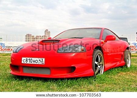 MOSCOW, RUSSIA - JULY 6: American motor car Dodge Stealth exhibited at the annual International Motor show Autoexotica on July 6, 2012 in Moscow, Russia.